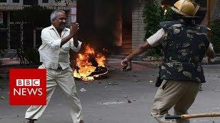 Violence strikes after india guru rape verdict - bbc news