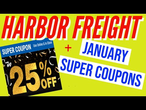 Harbor Freight Coupons January 2021 – 25% Off Super Discount Coupon and MORE!