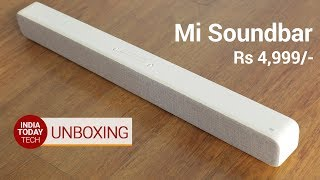 Mi Soundbar Unboxing and First Look  India Today Tech