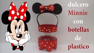 Dulcero de Minnie Mouse con foamy y botellas de plástico thumbnail