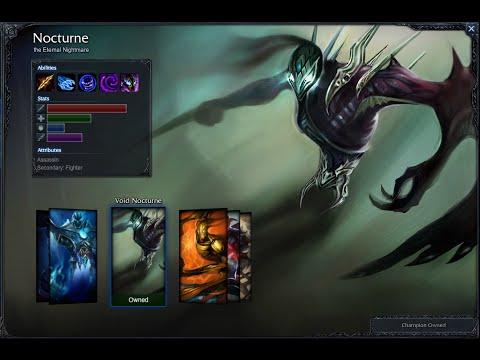 nocturne skins 2018 in game - 480×360