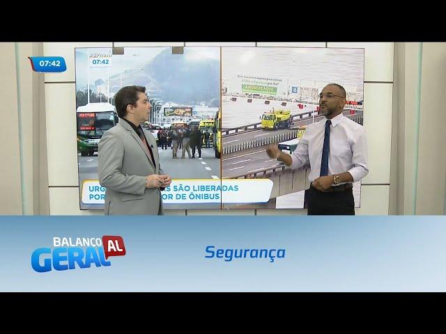 Segurança: Homem armado faz passageiros de ônibus reféns na Ponte Rio-Niteroi
