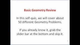 Geometry Exam Review