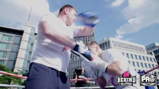FEDOR CHUDINOV WORKS OUT AHEAD OF GEORGE GROVES FIGHT IN SHEFFIELD