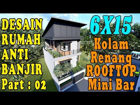 DESAIN RUMAH 6x15 ANTI BANJIR 2020 Eps : 02 FASILITAS LENGKAP !!! DESIGN BY ORLEANS STUDIO