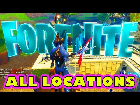 F-O-R-N-I-T-E Letters Challenge *ALL LOCATIONS* Fortnite Season 4 (Week 1 Challenges)