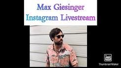 Max Giesinger Instagram Livestream Teil 1