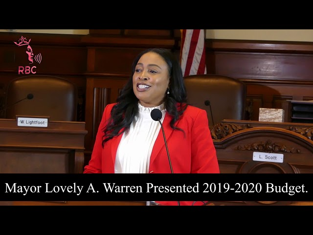 Mayor Lovely A. Warren today read her 2019-2020 operating budget.