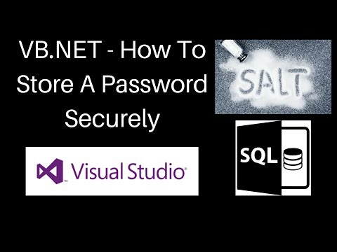 VB NET  - How To Hash And Salt A Password For An SQL Server With Login
