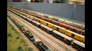 N-SCALE model railroad train layout w/sounds added #5