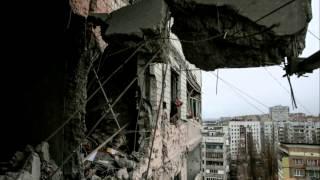 последствие войны на Донбассе.Разрушение после арт обстрелов.Razrushenie Art after shelling.