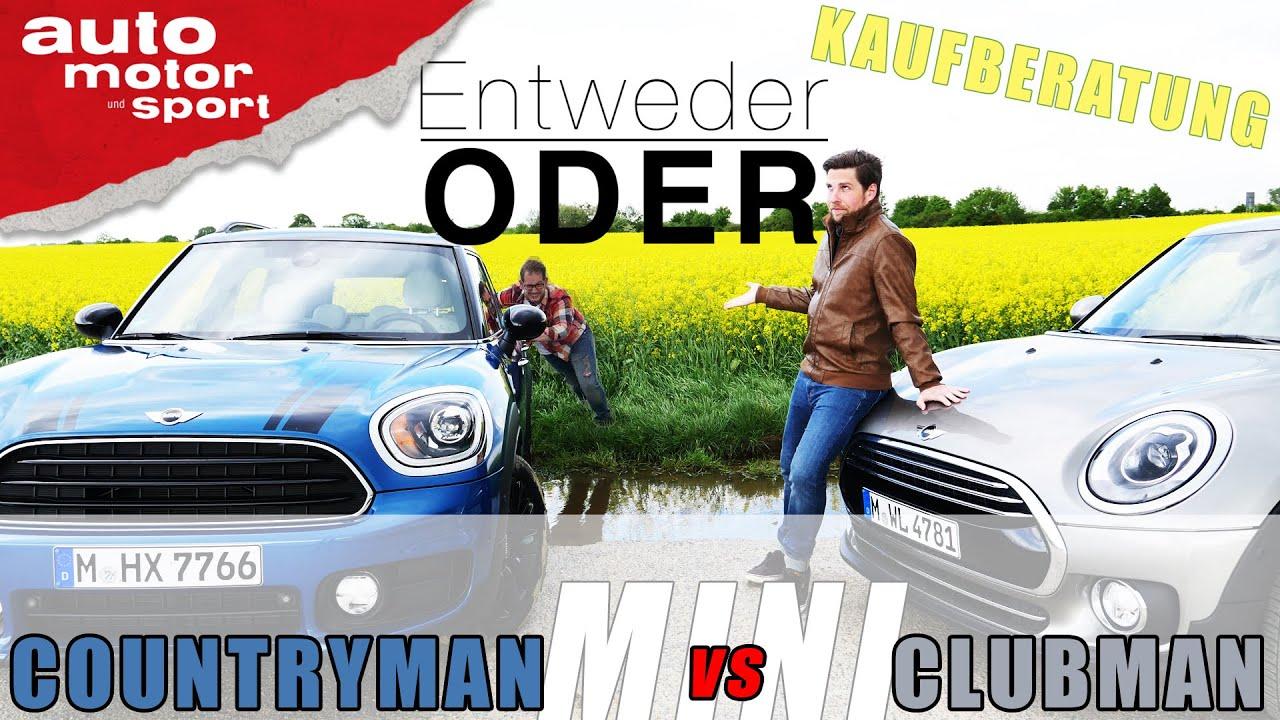 Mini Countryman Vs Mini Clubman Entweder Oder Vergleichreview