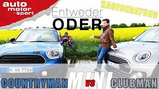 Mini Countryman vs Mini Clubman| Entweder ODER | (Vergleich/Review) auto motor und sport
