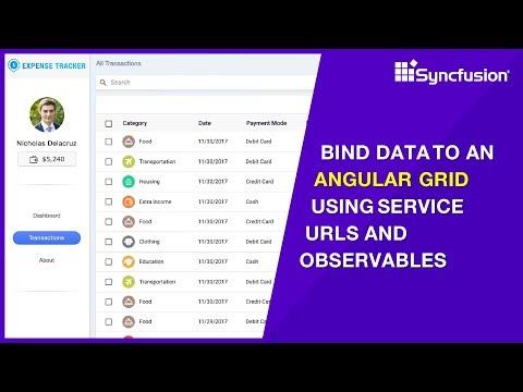 Angular Data Grid | Syncfusion Tutorial Videos