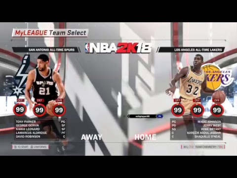 All Time Los Angeles Lakers  (7-0) (Hall of fame difficult)
