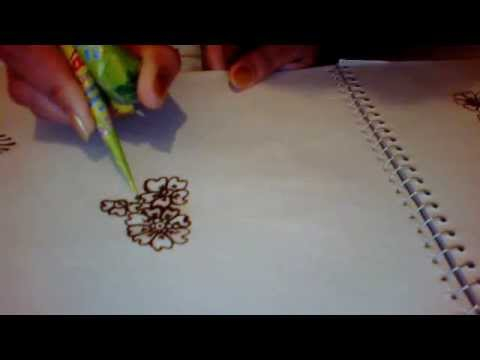 Simple Floral Henna Design For Kids Youtube