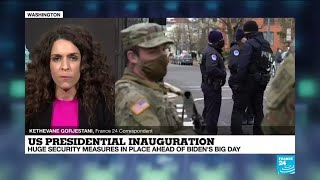 US presidential inauguration: Huge security measures in place ahead of Biden's big day