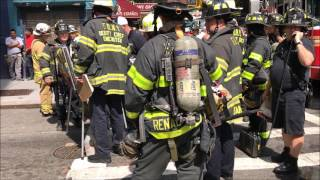 FDNY BOX 359 - 3RD ALARM COMMERCIAL HIGH RISE FIRE ON BLEECKER STREET IN NYC.