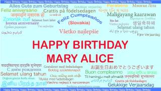 MaryAlice   Languages Idiomas - Happy Birthday