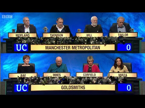 University Challenge - Christmas 2014 E07 Manchester Metro Uni vs Goldsmiths, Uni of London