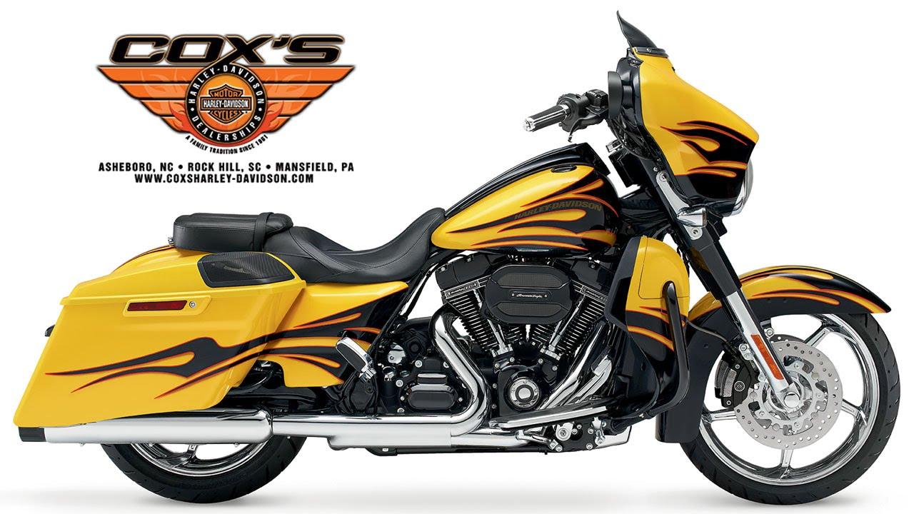 Yellow Harley Davidson Street Glide