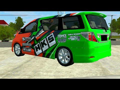 Toyota Alphard V2 Livery Bussid Bus Simulator Indonesia Youtube