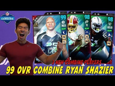 99 OVR COMBINE RYAN SHAZIER! NEW VERNON DAVIS & BRUCE IRVIN! MADDEN 17 ULTIMATE TEAM
