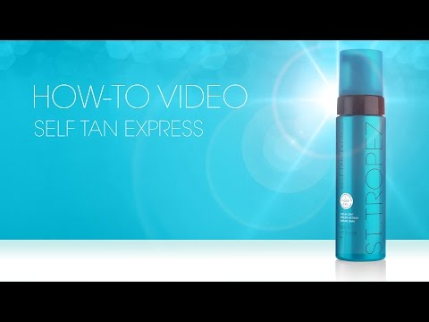 How to apply Self Tan EXPRESS MOUSSE + Before/After Tips & Advice by St.Tropez
