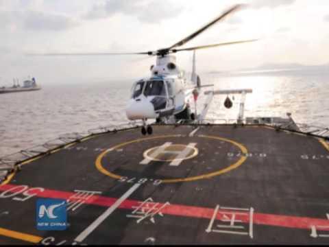 China's marine surveillance chopper crashes