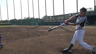 平沢選手のロングティーバッティングにカメラが接近【広報カメラ】 thumbnail