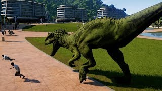 Indominus Rex Camouflage & Spinosaurus Breakout & Fight! Jurassic World Evolution (1080p 60FPS)