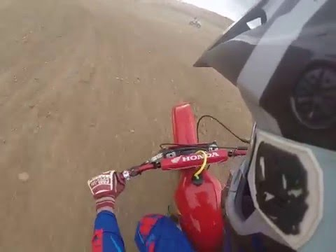 Vintage 1978 Honda CR250R after break-in at Jewell Motocross Park, CO
