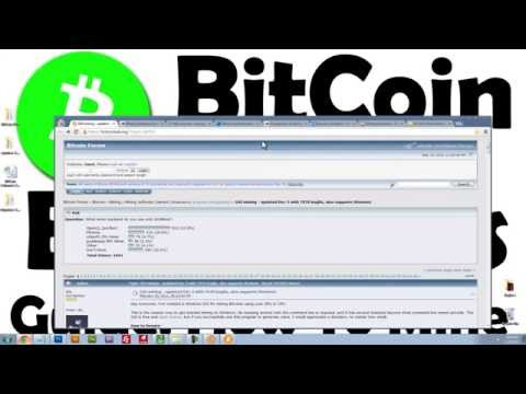 Bitcoin For BeginnersLearn How To Mine Bitcoin !Part 1