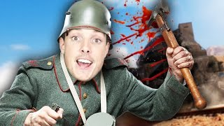MAN TIME TRAVELS TO WW1.... AND DIES! (Battlefield 1 Funny Moments)