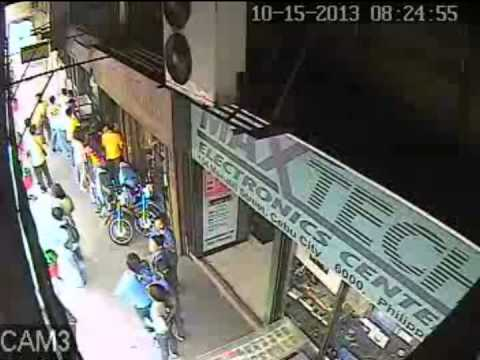 Cebu City, Philippines Magnitude 7.2 Earthquake October 15, 2013 captured by CCTV MUST SEE!!!