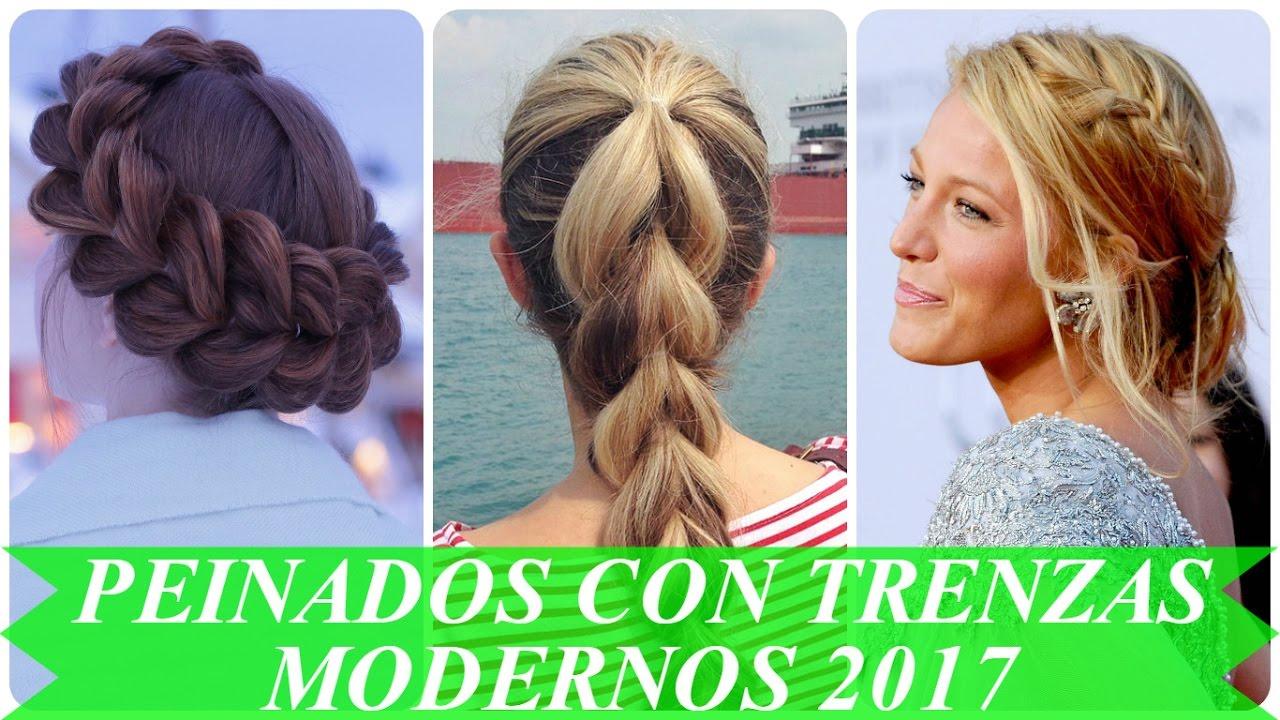 peinados con trenzas modernos