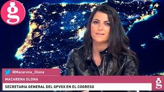 Macarena Olona, en defensa de la independencia judicial contra las cacicadas de PSOE y Podemos