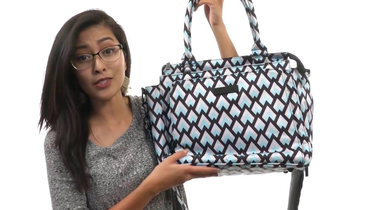Ju-Ju-Be Onyx Collection Be Classy Structured Handbag Diaper Bag Black Ops
