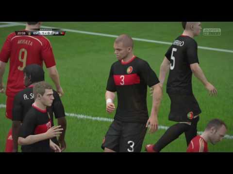 【FIFA16】スペインvsポルトガル 無敵艦隊、美しいサッカーで無失点完全試合!
