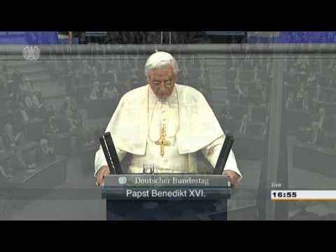 Papst Benedikt XVI. im Deutschen Bundestag