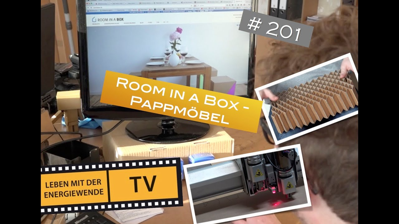 auf pappe schlafen?! room in a box - pappmöbel - youtube