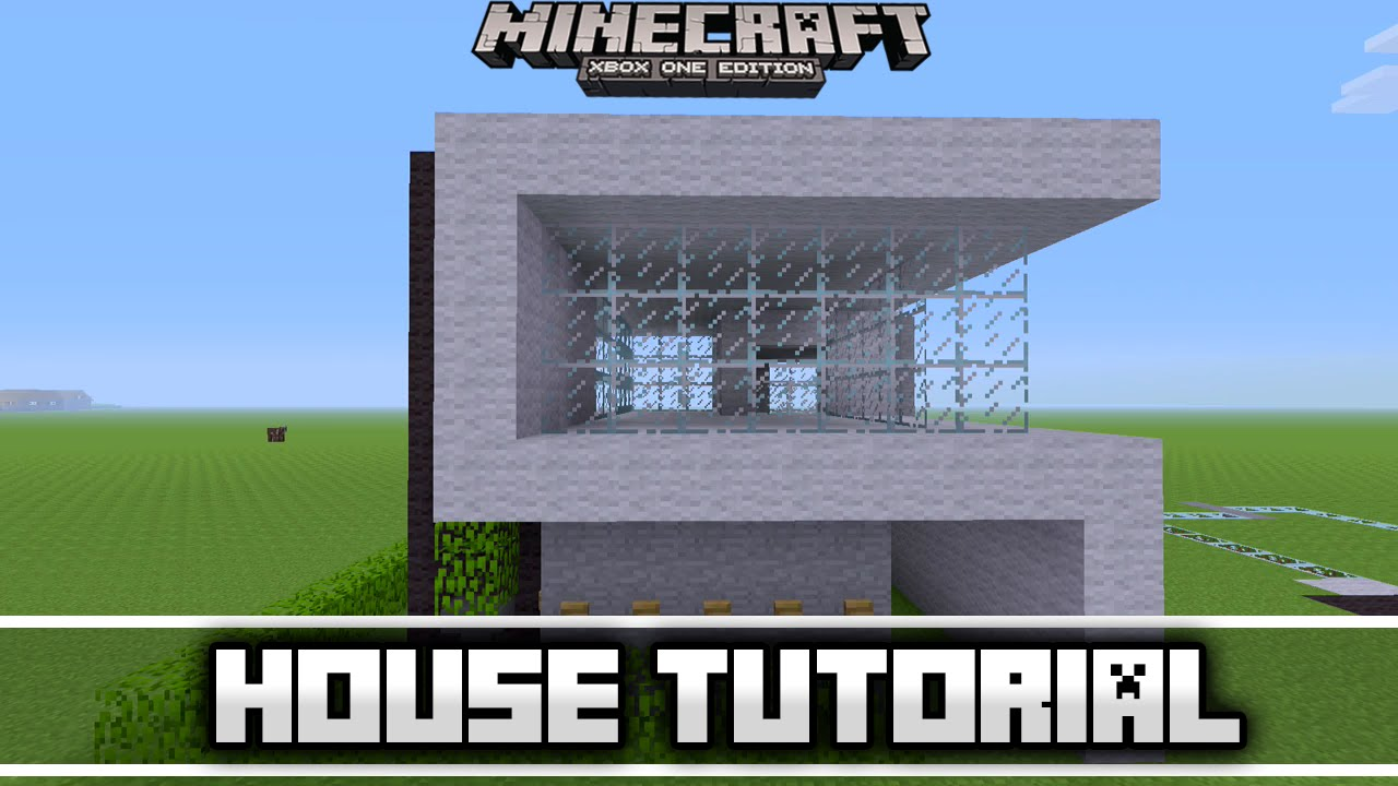 Minecraft simple easy modern house tutorial xbox 360 ps3 for Modern house xbox minecraft