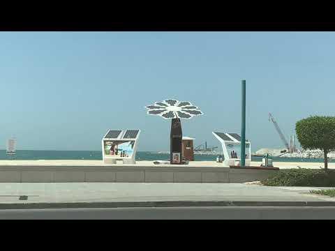 دبي شارع جميرا يوم السبت وبرج العرب Dubai Jumairah Road, Burj Al Arab