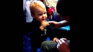 Приколы с детьми - Смешно до слёз в конце видео!!! Ребёнок научился плевать!!! )