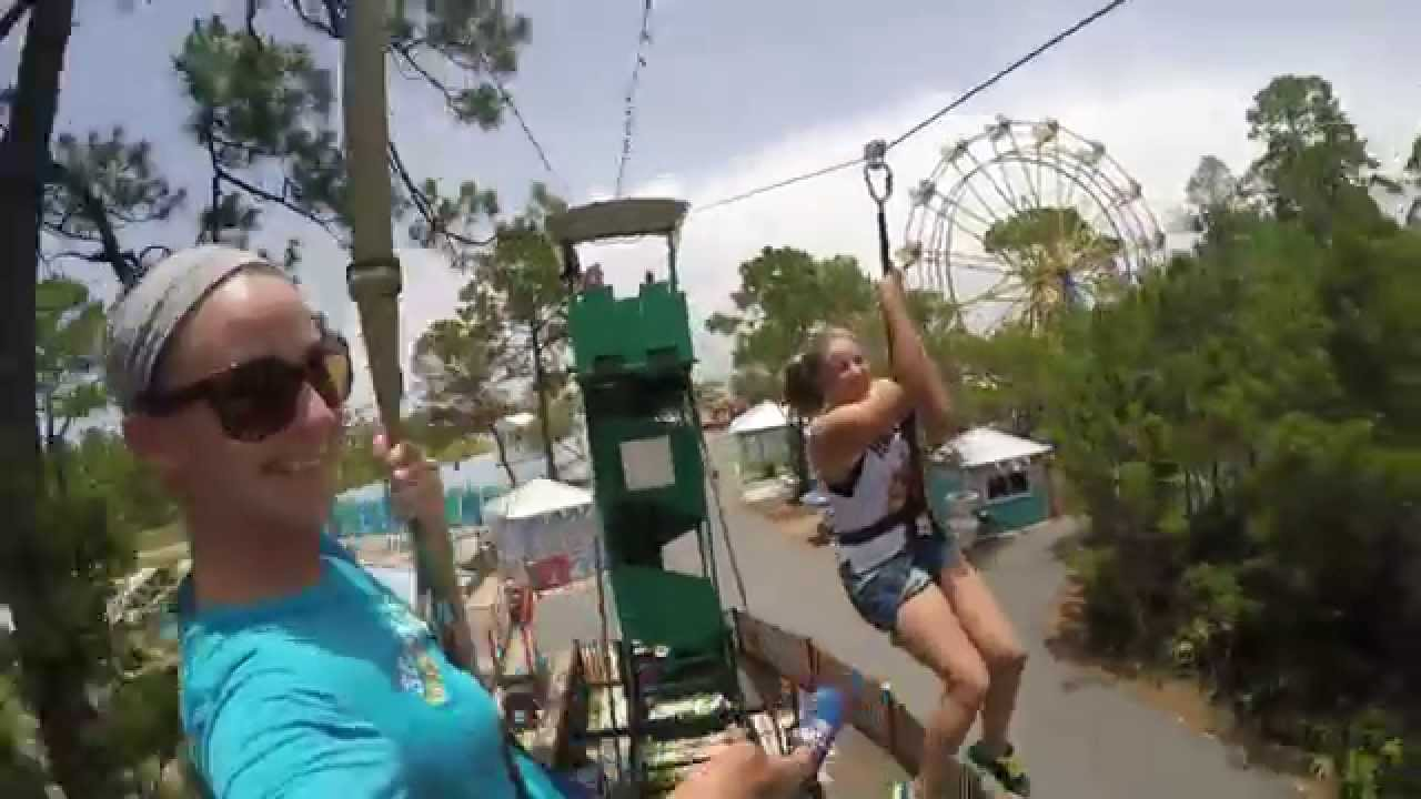 Makenzie Zahnd On The Zipline At Miracle Strip In Panama City Beach Fl