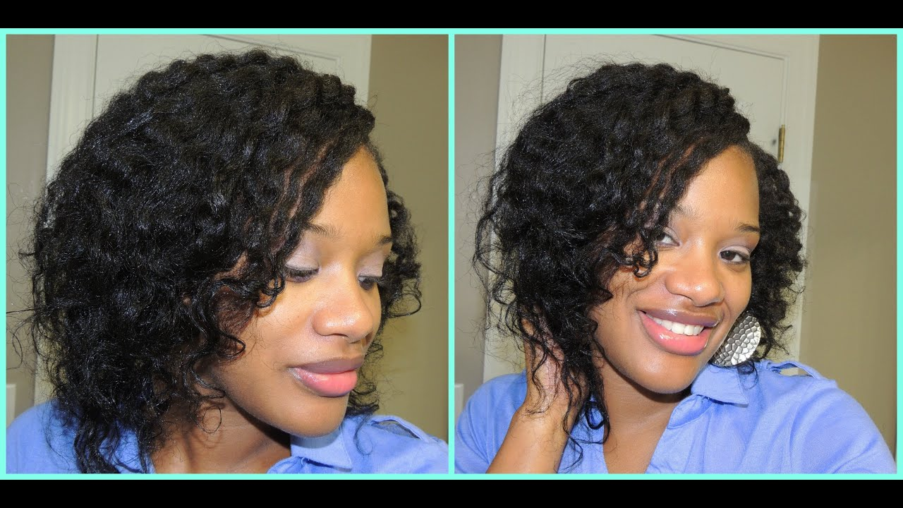 two strand flat twist .texlaxed relaxed