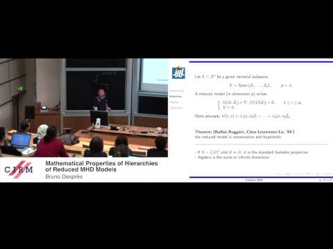 Bruno Després: Mathematical properties of hierarchies of reduced MHD models