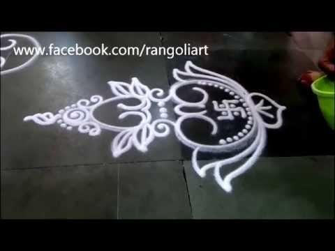 Kalash Rangoli Small Design Sanskar Bharati Rangoli Diwali special ...