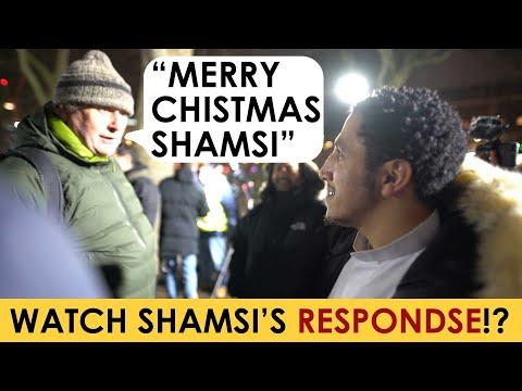 Shamsi Responding To Merry Christmas At Speakers Corner