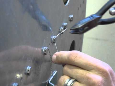How to safety wire in a two-bolt pattern. Safety Wiring on
